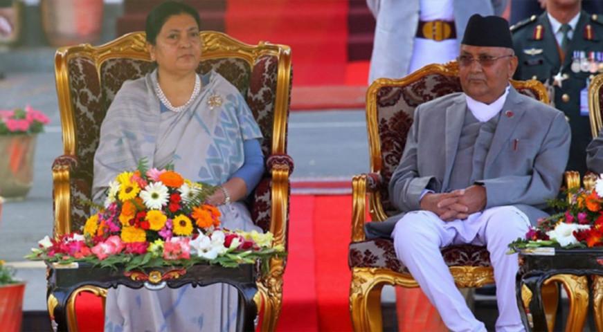 प्रधानमन्त्रीले भेटे राष्ट्रपति