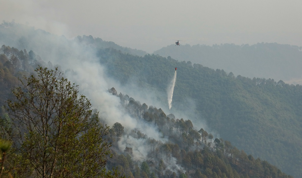 शिवपूरी नागार्जुन राष्ट्रिय निकुञ्जमा डढेलोः हेलिकप्टर प्रयोग गरेर नियन्त्रणमा