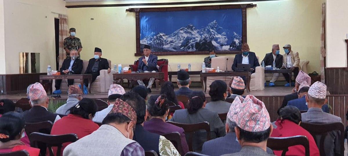 बालुवाटारमा एमाले स्थायी कमिटी बैठक, नेपाल–खनाल पक्षलाई फकाउने प्रयासमा ओली